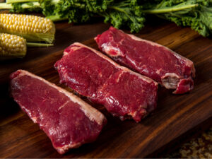 River Watch Beef – Premium Aged Grass Fed KC/NY Strip Steak