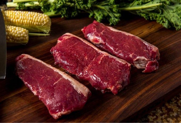 River Watch Beef –Premium Aged Grass Fed KC/NY Strip Steak