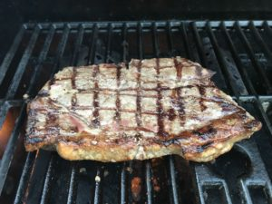 Grass Fed Beef Sirloin Steak on the Grill