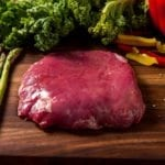 River Watch Beef - Grass Fed Flank Steak - Veggies