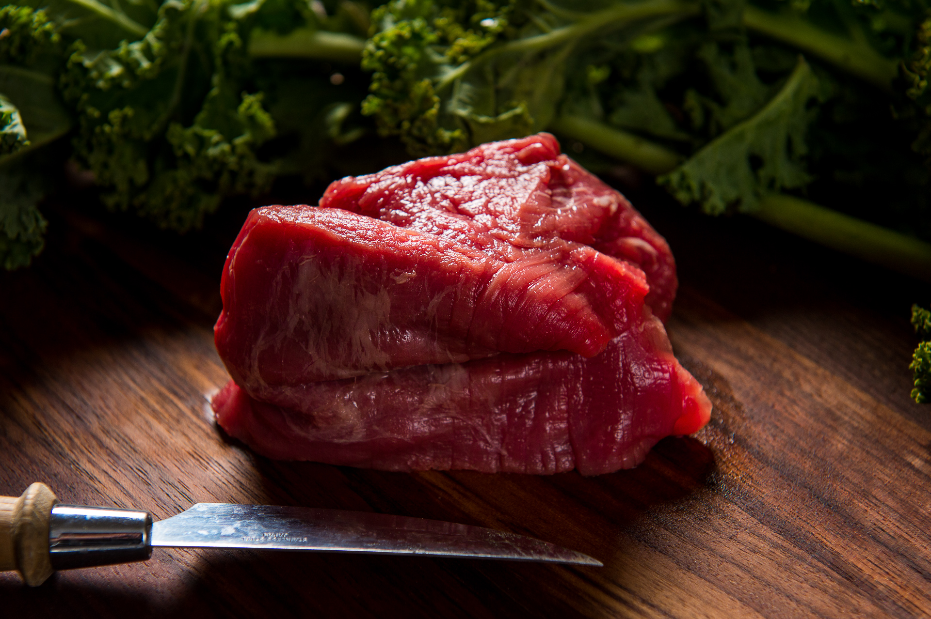 River Watch Beef Cuts - Filet Mignon - Greens Background