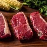 River Watch Beef Cuts - KC Strip Steak - 3 Steaks - Slide Focused