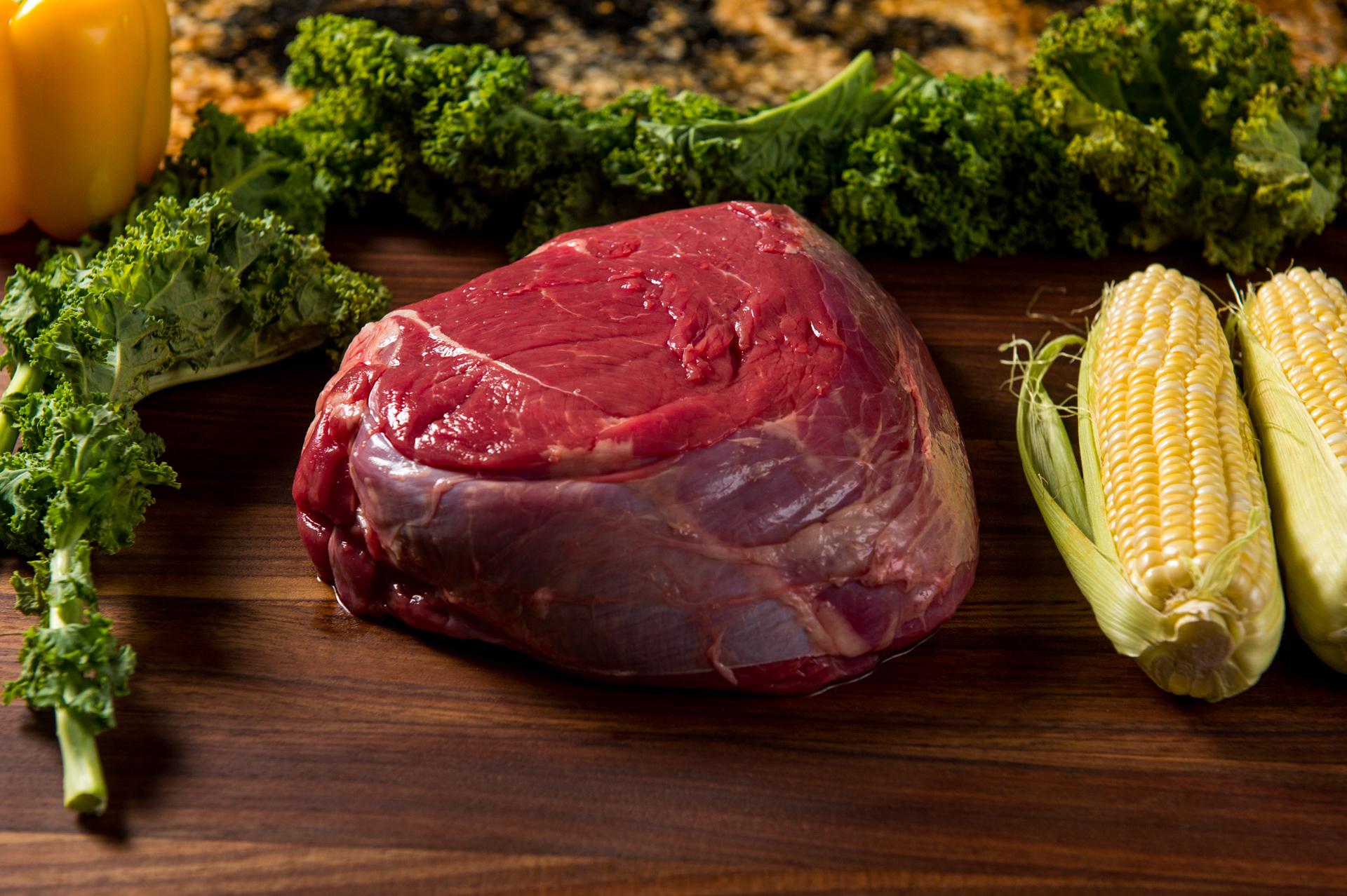 River Watch Beef - Grass Fed Sirloin Roast Top